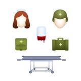 Εικόνες στη στρατιωτική ιατρική Στοκ φωτογραφίες με δικαίωμα ελεύθερης χρήσης