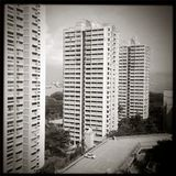 Εικόνες της Σιγκαπούρης - οικοδόμηση b&w Στοκ εικόνα με δικαίωμα ελεύθερης χρήσης