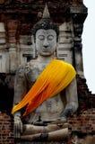 Εικόνες του Βούδα στους ναούς σε Ayutthaya, Ταϊλάνδη στοκ εικόνα