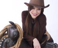 ειλικρινές cowgirl στοκ φωτογραφίες με δικαίωμα ελεύθερης χρήσης