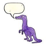 δεινόσαυρος κινούμενων σχεδίων με τη λεκτική φυσαλίδα Στοκ Εικόνα