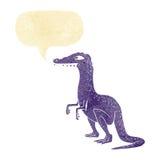 δεινόσαυρος κινούμενων σχεδίων με τη λεκτική φυσαλίδα Στοκ εικόνες με δικαίωμα ελεύθερης χρήσης