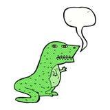 δεινόσαυρος κινούμενων σχεδίων με τη λεκτική φυσαλίδα Στοκ Εικόνες