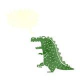 δεινόσαυρος κινούμενων σχεδίων με τη λεκτική φυσαλίδα Στοκ φωτογραφία με δικαίωμα ελεύθερης χρήσης