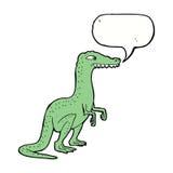δεινόσαυρος κινούμενων σχεδίων με τη λεκτική φυσαλίδα Στοκ εικόνα με δικαίωμα ελεύθερης χρήσης
