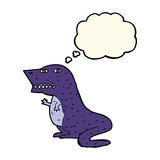 δεινόσαυρος κινούμενων σχεδίων με τη σκεπτόμενη φυσαλίδα Στοκ φωτογραφίες με δικαίωμα ελεύθερης χρήσης