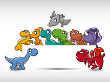 δεινόσαυρος κινούμενων & Στοκ Φωτογραφία
