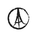 Ειρήνη για τη διανυσματική απεικόνιση του Παρισιού Στοκ φωτογραφία με δικαίωμα ελεύθερης χρήσης