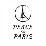 Ειρήνη για τη διανυσματική απεικόνιση του Παρισιού Στοκ Φωτογραφίες