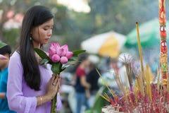Ειρήνη και ομορφιά στην προσευχή Στοκ φωτογραφία με δικαίωμα ελεύθερης χρήσης