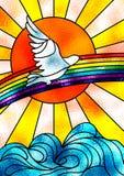 ειρήνη περιστεριών ελεύθερη απεικόνιση δικαιώματος
