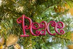 Ειρήνη στα Χριστούγεννα Στοκ Εικόνα
