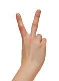 ειρήνη χειρονομίας victoty Στοκ Φωτογραφία