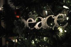 Ειρήνη Χριστουγέννων Στοκ εικόνα με δικαίωμα ελεύθερης χρήσης