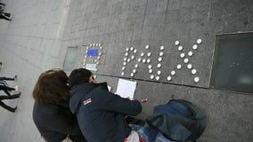Ειρήνη paix για το Παρίσι, Γαλλία απόθεμα βίντεο