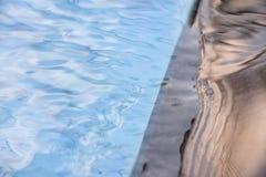 Ειρηνικές αντανακλάσεις λιμνών ενάντια στη μαύρη επικεράμωση γρανίτη Στοκ Εικόνες