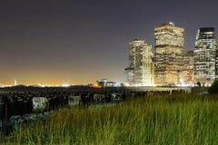 Ειρηνική άποψη του ορίζοντα πόλεων της Νέας Υόρκης στοκ εικόνα