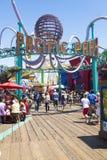 Ειρηνική αποβάθρα Λος Άντζελες Καλιφόρνια Ηνωμένες Πολιτείες της Μόνικα santa πάρκων Στοκ Εικόνες
