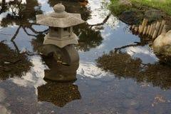 Ειρηνική λεπτομέρεια στο ιαπωνικό πάρκο Στοκ Φωτογραφίες