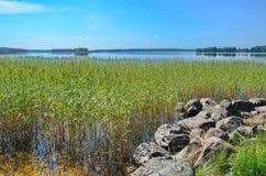 Ειρηνική καρελιανή λίμνη Στοκ φωτογραφία με δικαίωμα ελεύθερης χρήσης