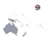 Ειρηνικός χάρτης με τη Χαβάη Στοκ Εικόνες