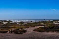 Ειρηνικός Ωκεανός και οι αμμόλοφοι της Σαμόα Στοκ Εικόνες