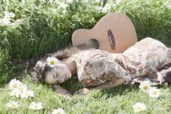 Ειρηνικό ευτυχές hippie στοκ εικόνες με δικαίωμα ελεύθερης χρήσης