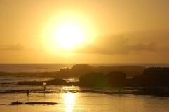 Ηλιοβασίλεμα από Essaouira Στοκ Φωτογραφία