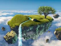 Ειρηνικό νησί διανυσματική απεικόνιση
