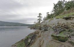 Ειρηνικό πάρκο σπιτιών κουδουνιών στο νησί Καναδάς Galiano Στοκ Εικόνα