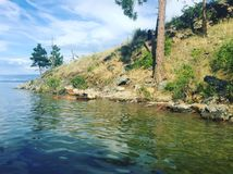 Ειρηνικό τοπίο ακτών λιμνών Στοκ Φωτογραφίες