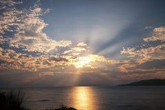 Ειρηνικό τοπίο του ηλιοβασιλέματος που λαμβάνεται στη Νέα Ζηλανδία στοκ εικόνα με δικαίωμα ελεύθερης χρήσης