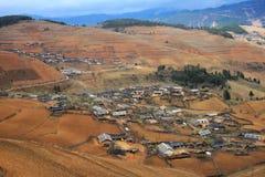 ειρηνικό χωριό altiplano στοκ εικόνες