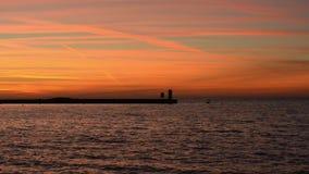 Ειρηνικό seascape στη μεσημβρία φιλμ μικρού μήκους