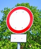 εισάγει όχι το σημάδι Στοκ εικόνα με δικαίωμα ελεύθερης χρήσης
