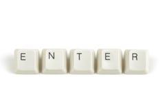 Εισάγετε από τα διεσπαρμένα κλειδιά πληκτρολογίων στο λευκό Στοκ εικόνα με δικαίωμα ελεύθερης χρήσης