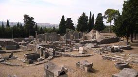 Εισάγετε την πύλη της αρχαίας πόλης Salona στην Κροατία απόθεμα βίντεο