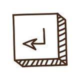 Εισάγετε το εικονίδιο κουμπιών Στοκ Εικόνα