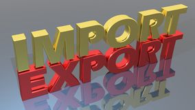 Εισαγωγή-εξαγωγή ελεύθερη απεικόνιση δικαιώματος
