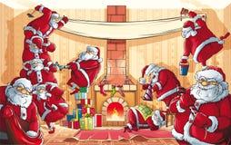 Εισβολή Άγιου Βασίλη Χριστουγέννων Στοκ Εικόνες