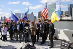 Εισβολή της Κριμαίας διαμαρτυρίας agains Στοκ φωτογραφία με δικαίωμα ελεύθερης χρήσης