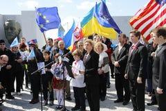 Εισβολή της Κριμαίας διαμαρτυρίας agains στοκ εικόνα