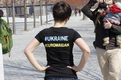 Εισβολή Crimea διαμαρτυρίας agains Στοκ φωτογραφία με δικαίωμα ελεύθερης χρήσης