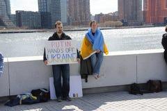 Εισβολή Crimea διαμαρτυρίας agains Στοκ εικόνα με δικαίωμα ελεύθερης χρήσης