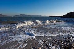 Εισερχόμενη παλίρροια - Lyme REGIS στοκ εικόνες με δικαίωμα ελεύθερης χρήσης