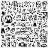 Εισηγητής, χιπ χοπ, γκράφιτι - doodles θέστε Στοκ Εικόνες