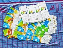 Εισιτήρια γεγονότος για τους 2016 Ολυμπιακούς Αγώνες του Ρίο Στοκ εικόνα με δικαίωμα ελεύθερης χρήσης