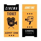 Εισιτήρια κινηματογράφων Στοκ Εικόνες