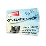 Εισιτήρια λεωφορείων από το κέντρο πόλεων στον αερολιμένα και την επιστροφή - ima έννοιας Στοκ φωτογραφίες με δικαίωμα ελεύθερης χρήσης