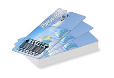 Εισιτήρια περασμάτων τροφής αερογραμμών στη Μόσχα που απομονώνεται στο λευκό Στοκ Εικόνες